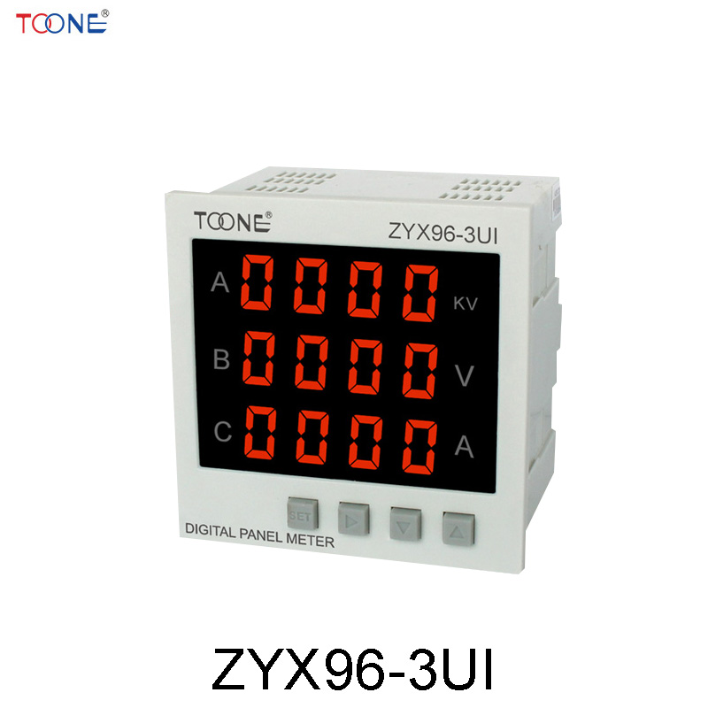 Three - phase AC digital display intelligent current and voltage table ZYX96-3UI two - in - one power meter three phase ac digital display intelligent current and voltage table zyx96 3ui two in one power meter
