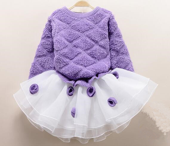 2018 mode fleur fille été princesse robe enfant bébé filles fête mariage danse dentelle Tulle Tutu robes enfants vêtements chauds - 5