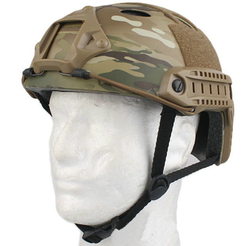 OneTigris Tactical Fast PJ Helmet Military Protective Combat Helmet for Outdoor Airsoft Paintball 2015 new kryptek typhon pilot fast helmet airsoft mh adjustable abs helmet ph0601 typhon