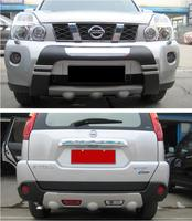 2 шт. автомобиль ABS спереди + задний бампер Защита Чехол опорная плита для Nissan X Trail, PDF T31 2012 2013 быстро EMS