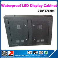 wholesale waterproof led display cabinet 768*576mm iron cabinet outdoor led screen