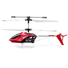 100% Original SYMA W25 2CH RC Aircraft Remote Control Electric Helicopter Indoor Mini Shatterproof Kids Toys Model Red