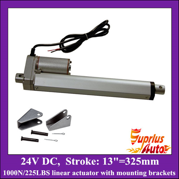 цена на 13inch/ 325mm stroke 24V linear actuator with mounting bracket, 1000N/100KGS load electric linear actuator