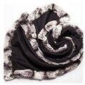Шиншилла меховой шарф женский дамы зима осень весна обертывания 100% чистого кашемира черный фиолетовый цвет S16