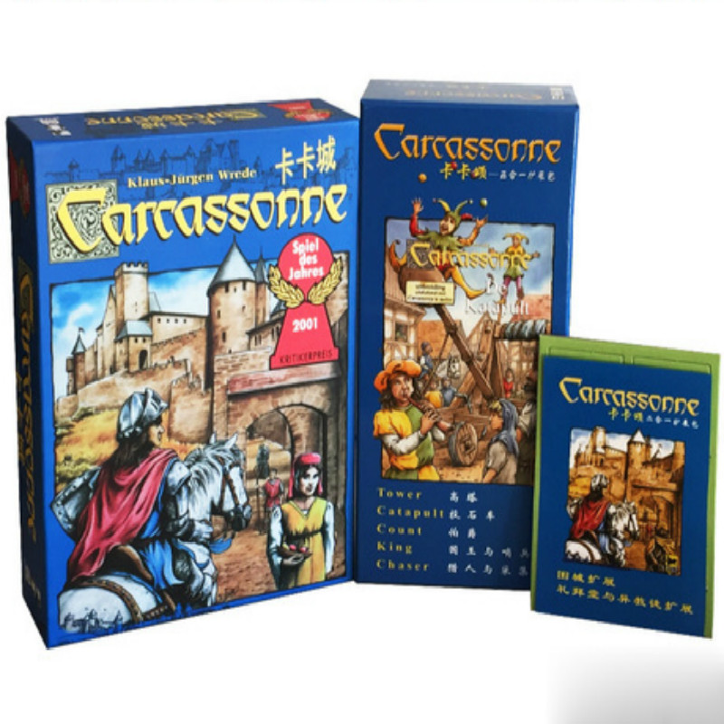 Carcassonne Basic 2017 English Version Board Game Card Game Party Family Game Gift for Children