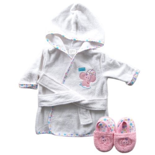 Luvable Friends 6 Designs Hooded Animal Modeling Baby Bathrobe with Baby Shoes 0-9 M Infant Bath Towels Baby Sleepwear & Robes (8)