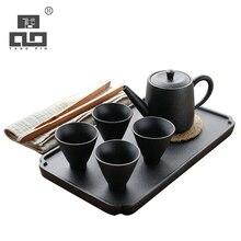 TANGPIN coffee and tea sets ceramic teapots with 4 cups chinese kung fu tea set tangpin coffee and tea tools ceramic kyusu tea pitchers infusers chinese kung fu tea accessories