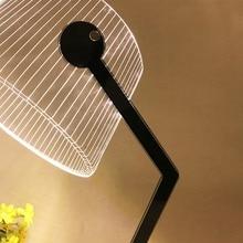 Nowoczesna lampka biurkowa LED z kloszem 3D