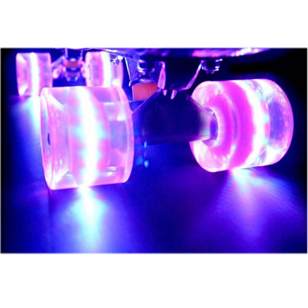 1Set (4 Pcs)  60x45mm Cuiser LED LIGHT UP Skateboard Wheels Blank Pro Fits 22 Inch  Skate Fish Board Longboard