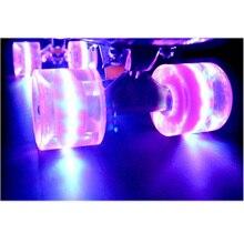 1Set (4 pcs) Blank Pro 60 x 45mm Cuiser  LED LIGHT UP Wheels  Fits 22 Inch Skateboard Skate Fish Board  Backpack  Longboard