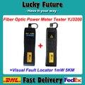 2 pçs/lote Kit de Ferramentas De Fibra Óptica FTTH Mini Medidor de Potência Óptica-70 ~ + 6dBm 5 km 1 MW Visual Fault Locator Testador De Fibra Óptica