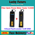 2pcs/lot  FTTH Fiber Optic Tool Kit Mini Optical Power Meter -70 ~+6dBm 5km 1MW Visual Fault Locator Fiber Optic Tester