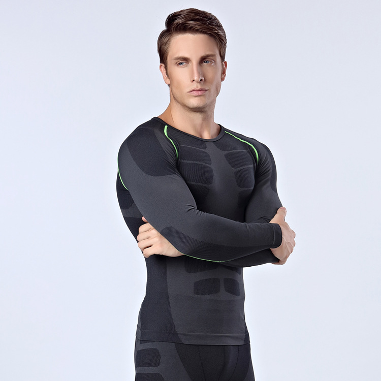 2016 Brand Thermal Underwear Men underwear sets compression sport fleece sweat thermo underwear men Fitness clothing