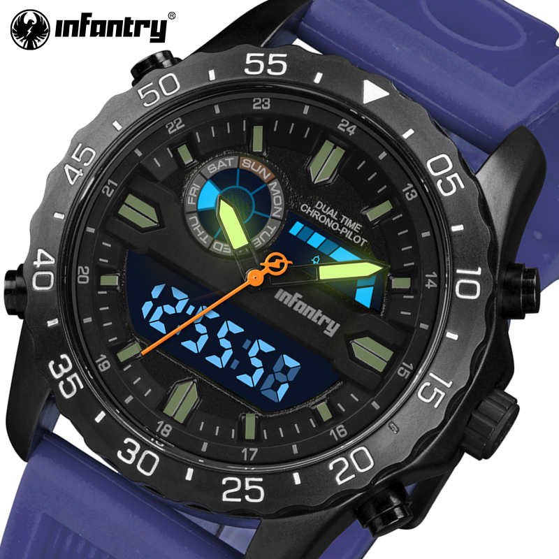 INFANTRY 2017 New Arrival Quartz Men Watches Military Silicone Sports Watch Auto Date Luminous Waterproof Relogio Masculino 60%off fashion silicone bracelet watch olevs men classic design military watches quartz auto date diver sports wristwatch 2017
