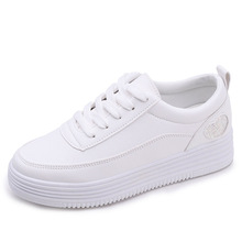 YeddaMavis Women Shoes Off White Sneakers Spring New Korean PU Lace Up Womens Woman Trainers Zapatos De Mujer