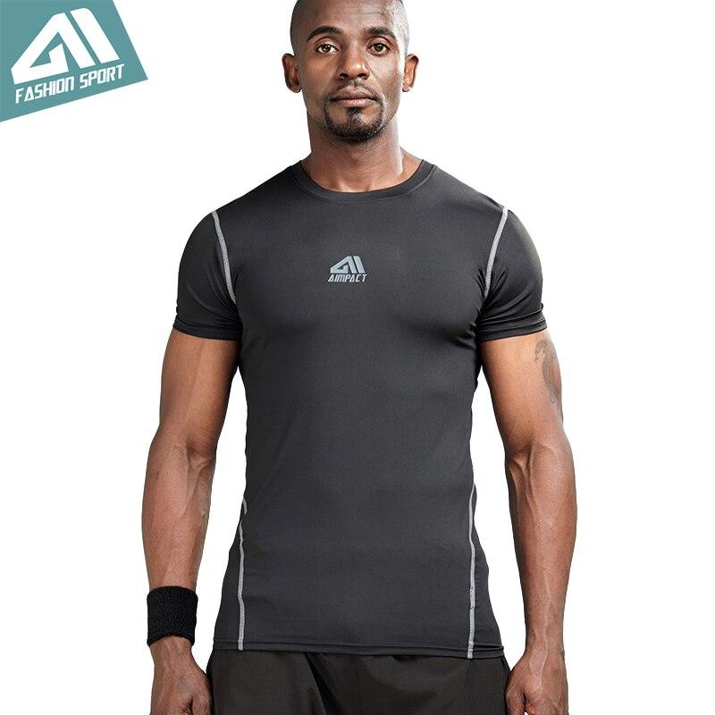 Aimpact спортивные компрессионные футболки Для мужчин бодибилдинг тренажерный зал тренировки футболки Спорт Slim Fit Quick-Dry body shaper Tights AM1056