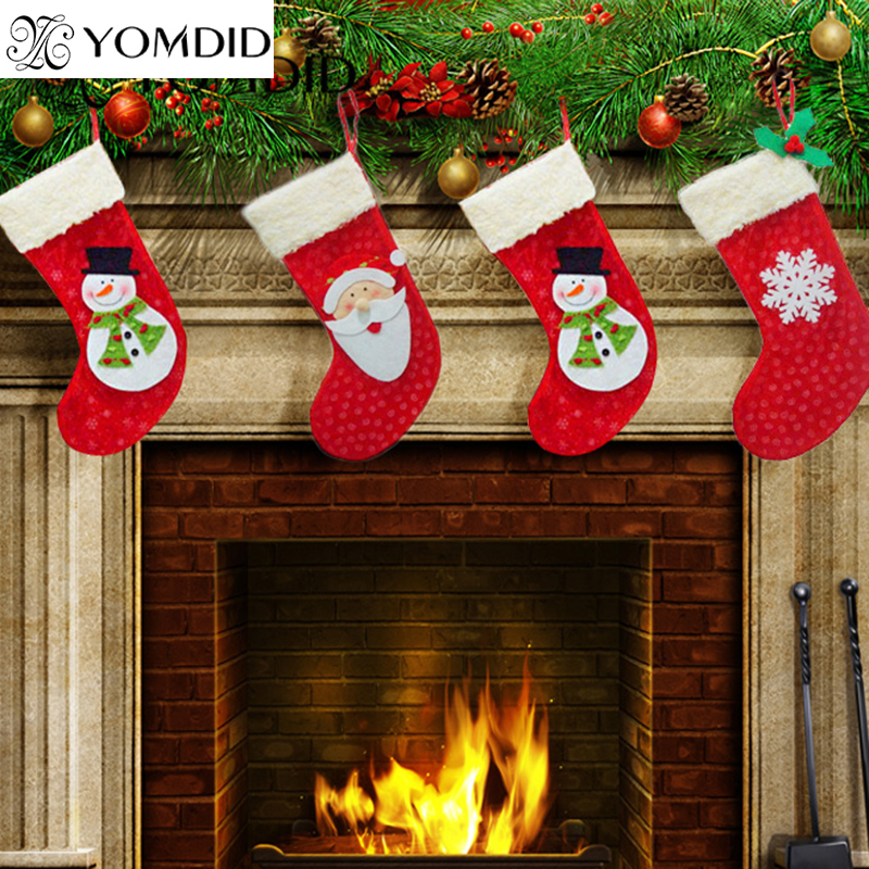 3pcs christmas stocking decoracion navidad enfeite de natal christmas decorations for home gift
