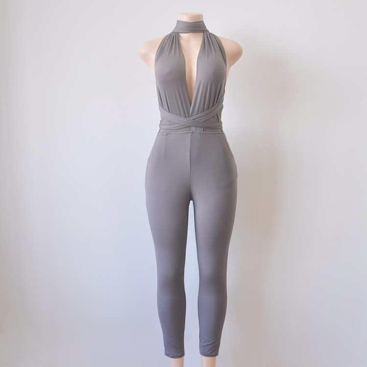 Grey elegant jumpsuit 1