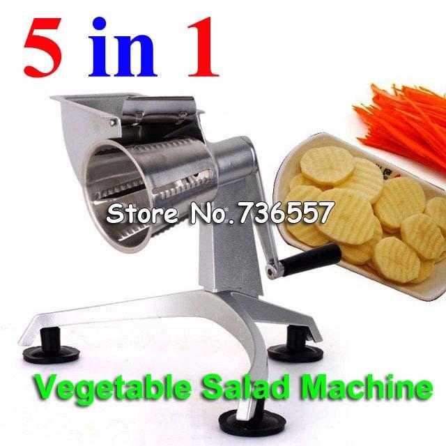 New Salad master,Hand multi-vegetable salad machine, fruit machine, salad slicer, shred vegetables slicing machine high quality automatic electric fruit salad slicers cutt shredder machine vegetable cutter fruit onion slicer shredder