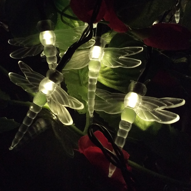 Novelty Outdoor String Lights Yiyang garden outdoor novelty dragonfly 10m 60leds led solar lamps yiyang garden outdoor novelty dragonfly 10m 60leds led solar lamps bulbs fairy string lights garden path workwithnaturefo