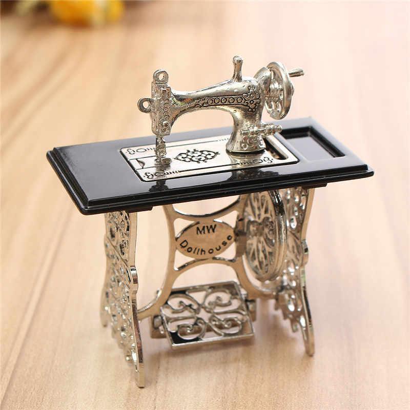 Miniatura игрушка Винтаж миниатюрный Вышивание машины мебель игрушечные лошадки подарки для 1/12 декор для кукольного дома Ретро Дети интимные аксессуары