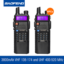 6Pcs/lot Original BaoFeng UV5R Walkie Talkie Radio Transceiver VHF UHF Radio Communicator Portable Radio Set In Moscow
