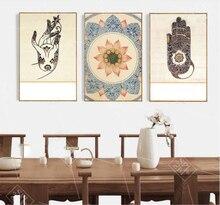3 шт. буддийский религиозный настенный художественный Рисунок в стиле лотоса, Картина на холсте, винтажное украшение для дома, постеры и при...