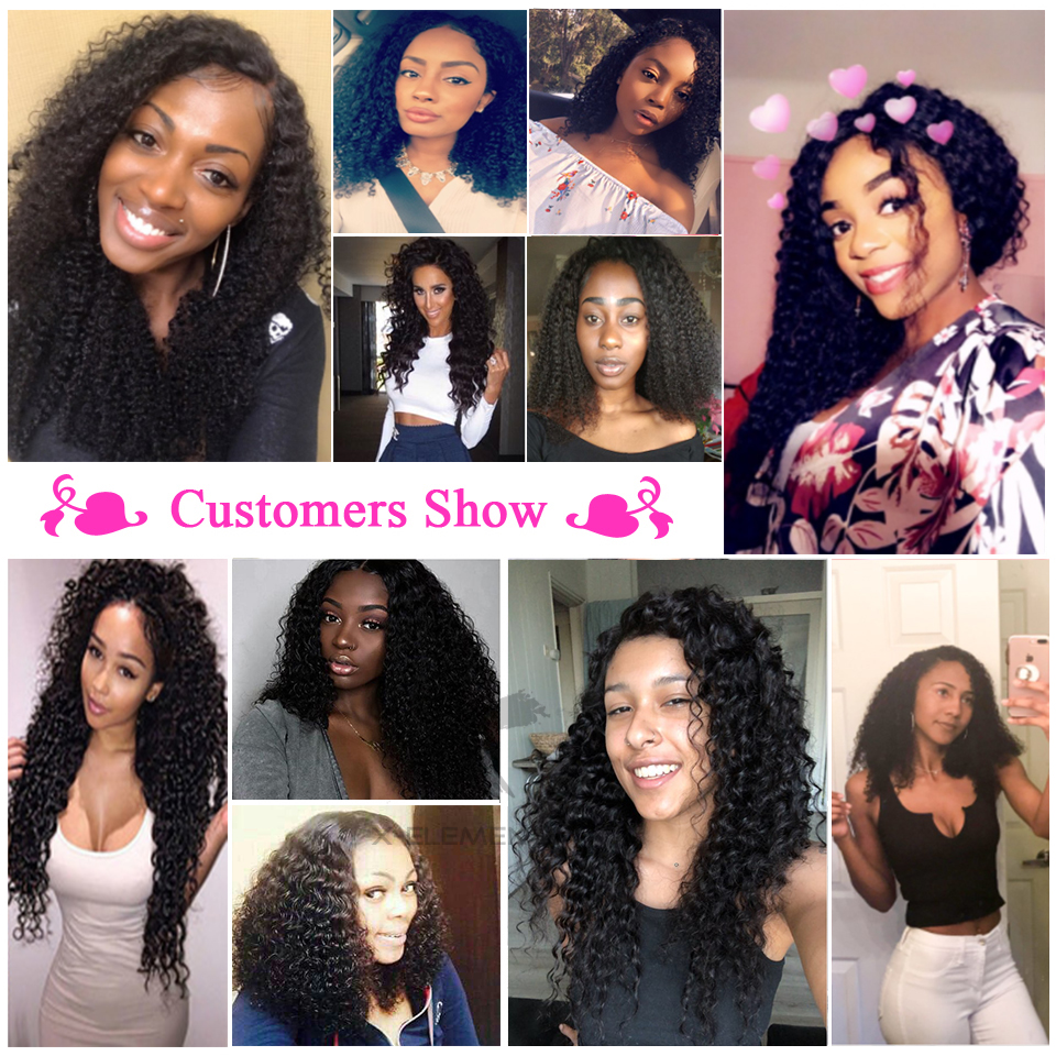 X-Elements Hair Malaysian Kinky Curly Hair Weave 3 4 Bundles Deals 100% Human Hair Extensions Non-Remy 8-26 Inches Natural Color (7)