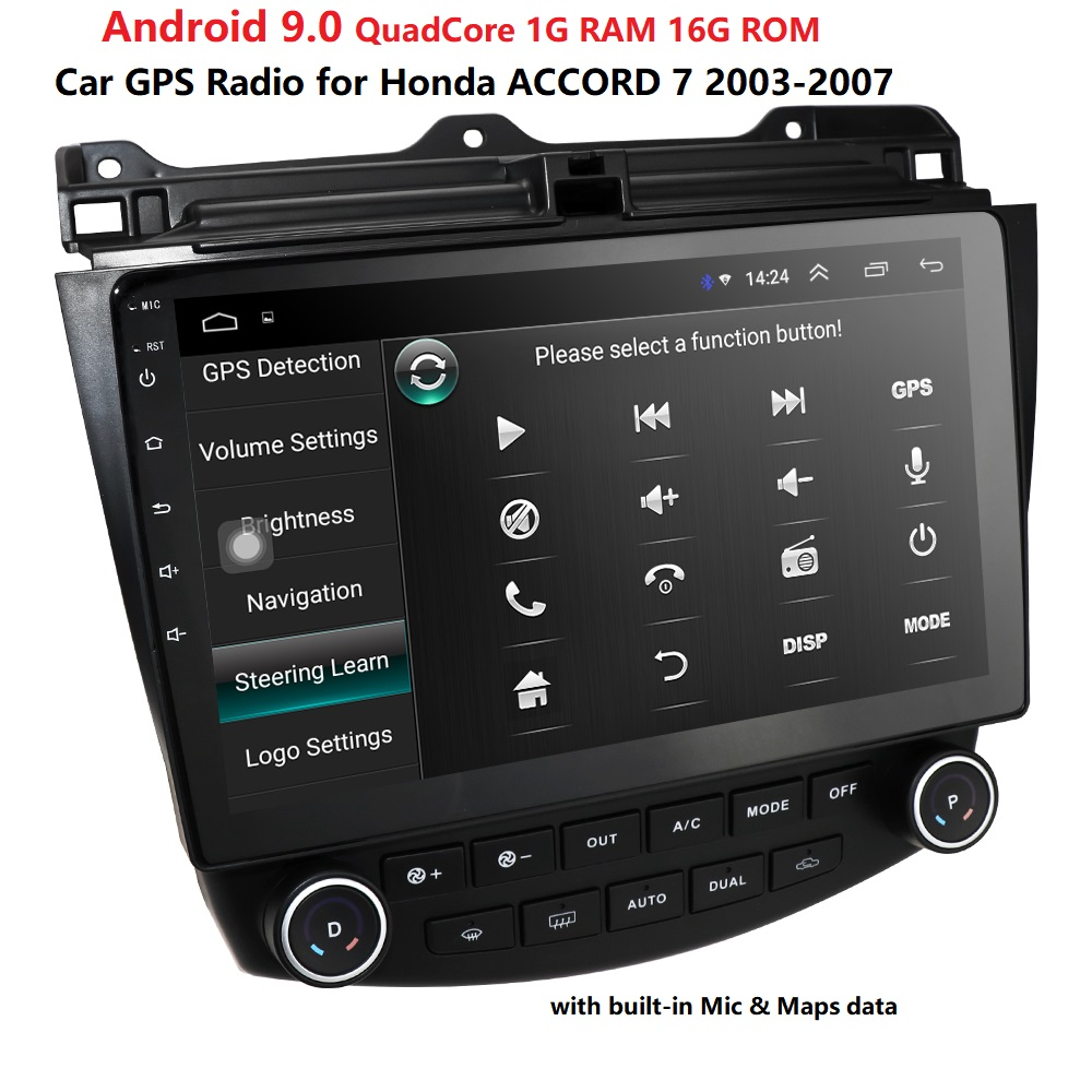 <font><b>Android</b></font> 9.0 car no-dvd stereo 10.1 inch Audio <font><b>Radio</b></font> player for <font><b>Honda</b></font> <font><b>Accord</b></font> 7 2003-2007 car Navigation GPS SWC DVR DVBT BT TPMS image