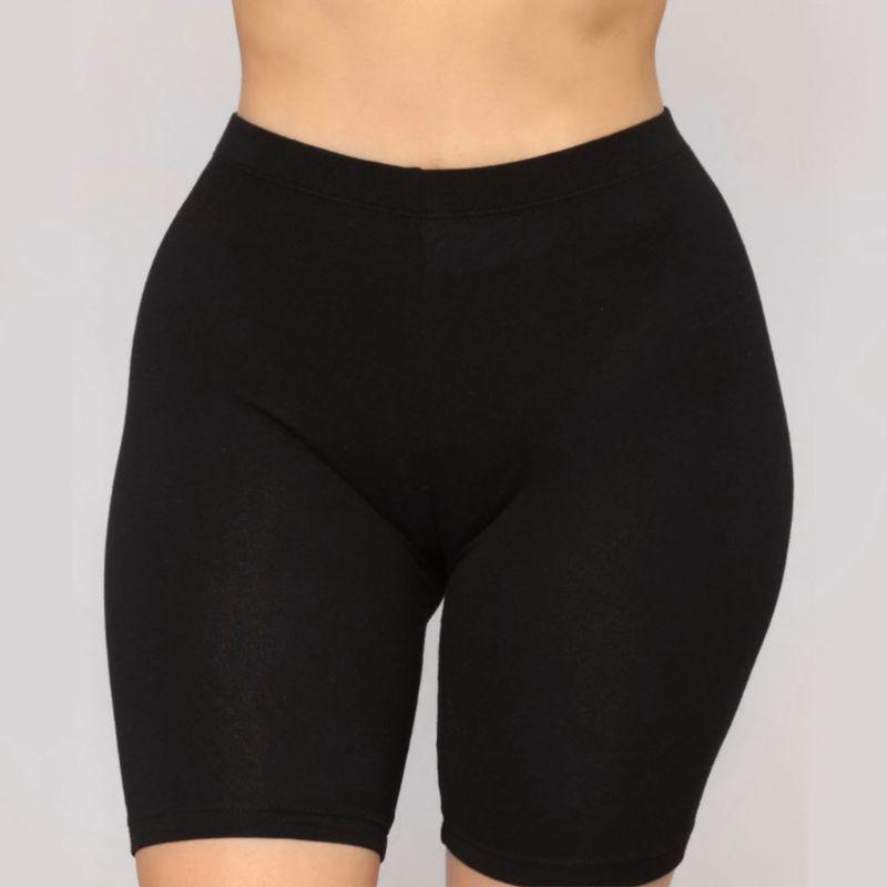 Fashion New Lady Women s Casual Fitness Half High Waist Quick Dry Skinny Bike Shorts 3