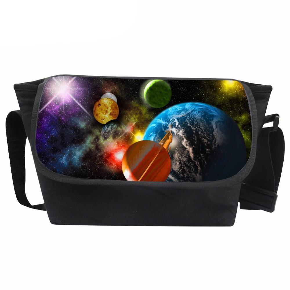 Customized Messenger Bag Women Universe Print Bag Ladies Unique Crossbody Bag Teenagers Casual Shoulder-bag Bolsa