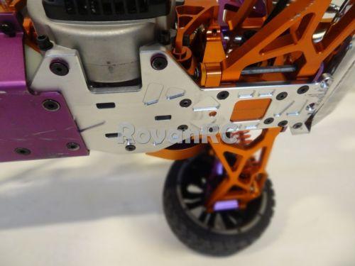 1/5 skala HD aluminium o grubości 6mm z tyłu dolna płyta, podwozie ramki nadające się HPI Baja 5B w Części i akcesoria od Zabawki i hobby na  Grupa 2