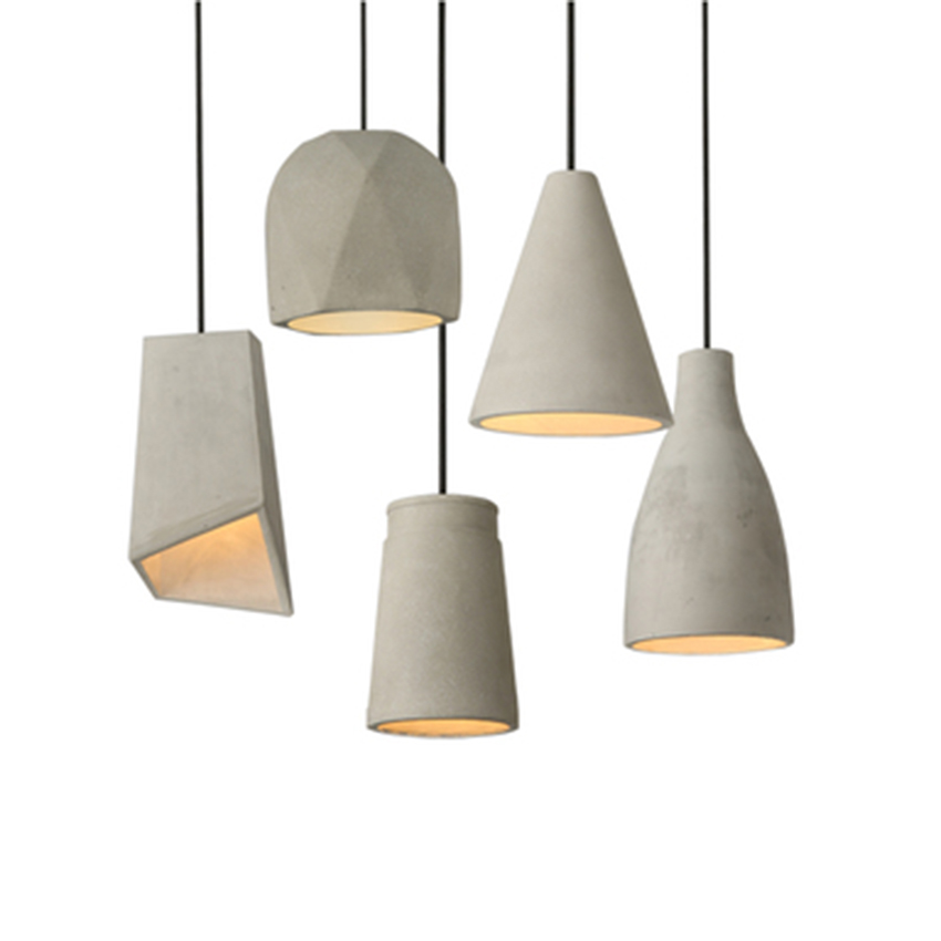 Nordic Designer Cement LED Pendant Lights Modern Dining Room Hanging Lamps Living Room Bedside Bedroom Decor Lighting Luminaire