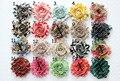 ree shipping Print 2.5 chic shabby frayed chiffon flowers,chiffon Rosette flowers 51 colors 30pcs/lot