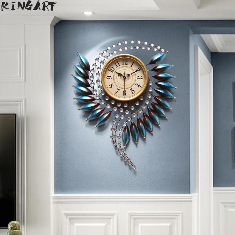 3d grande horloge murale Design moderne grande montre murale salon ornement mural grande horloge de luxe pour décor à la maison en métal Art horloge 88 2