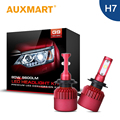 Auxmart LED Headlight Kit Solo Haz H7 Bombilla LED Car Auto cabeza De La Lámpara Luz de Niebla Ventilador Coolling Para Audi VW Fiat Hyundai Kia