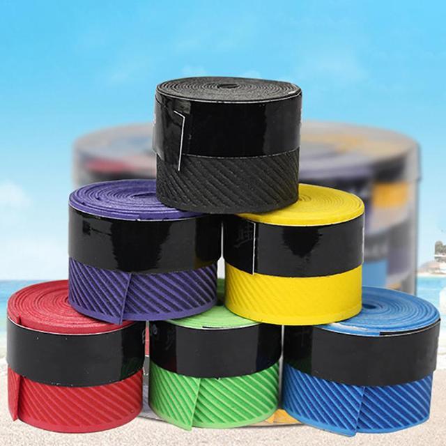 2018new Badminton Sweat Belt Tennis Racket Band Towel Hand Glue Take-up Strap Handshake Handle Multi-color Optional Random Color 1
