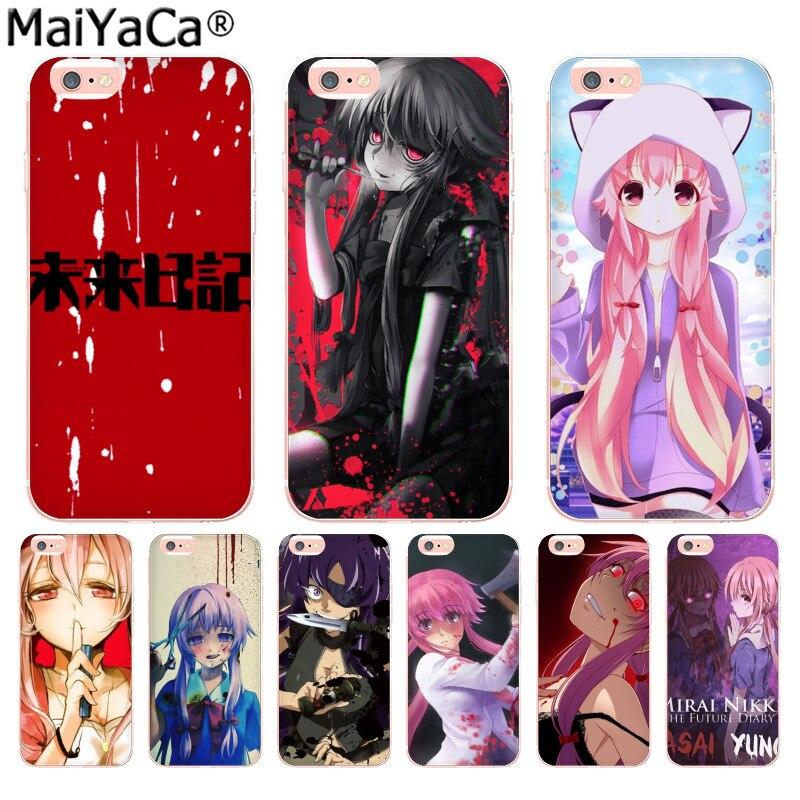 MaiYaCa Anime Mirai Nikki Luxury High-end phone Accessories Case for iP