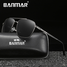 BANMAR Brand New Sunglasses Men Glasses Driving Reflective Coating Lens Eyewear Accessories Sun Oculos