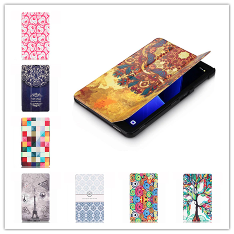 Fashion Colored Drawing Pu Leather Stand Case Cover for Samsung Galaxy Tab A 10.1 2016 T585 T580 T580N+Screen film