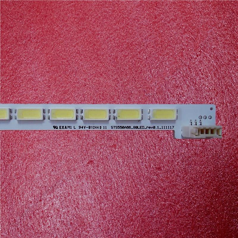 New 5PCS/lot 80LED 676mm 3 Pin LED Backlight Strip For LJ64-03515A STS550A66-80LED-rev0.1 LTA550HQ20 LTA550HQ22 LED55X5000DE