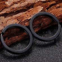 10 unids/pack llavero pistola negro Color 25MM llavero de hierro llave de aleación de anillo de bronce antiguo clave cadena accesorios para los hombres y las mujeres