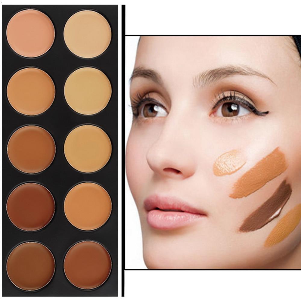 Professionell Makeup 10 färger Concealer Palette Face Brightener - Smink