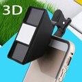 1 Pcs Lente de Smartphones de Alta Qualidade Em 3D Estereoscópico 3D Stereo Camera Fotos Lente Olho de peixe Com Clip