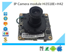 Luckertech CCTV IP Camera module Hi3518E+H42 with Lens focused and IR-CUT 1.0MP 720P 1280*720 IRC ONVIF P2P two Way Audio CCTV