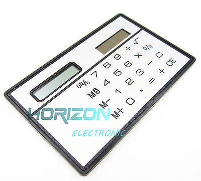 8 Digits Ultra Thin Mini Slim Credit Card Solar Power Pocket font b Calculator b font