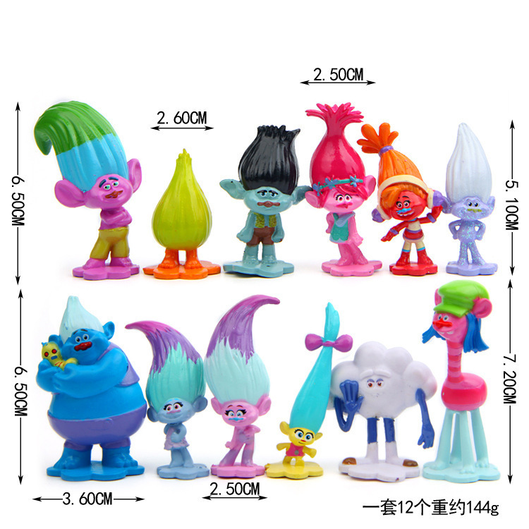 12pcs Set Trolls Movie Dreamworks Pvc Action Figure Collectible Dolls Poppy Branch Doll Toy For Kids Dropshipping Buy At The Price Of 8 78 In Aliexpress Com Imall Com