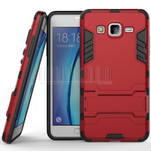 Samsung Galaxy On 5 G5500 G550 Slim Rugged Hybrid Impact Tank Armor Back Case With Stand Cover