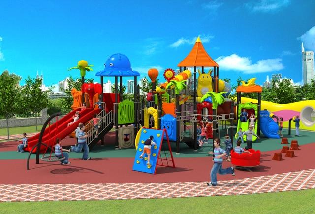 European Standard Children Outdoor Plastic Playground For  Park/school/community/garden Yard Kids
