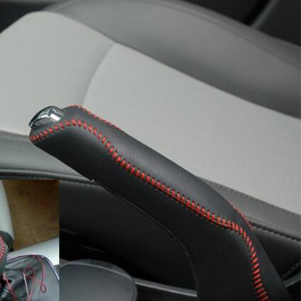 Car Styling Genuine Leather Handbrake Cover For Chevrolet
